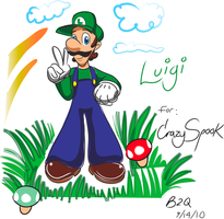 Luigi for: Crazyspook by Bowser2Queen