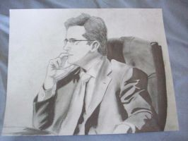 Stephen Colbert Pondering by Twisted-Paopu
