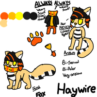 Haywire RefSheet .:.NOT MINE.:. by DeerNTheHeadlights