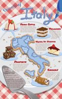 Food Map - Desserts of Italy by MischiefLily