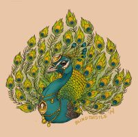Peacock Tattoo by blindthistle