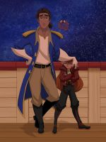 Captain James Pleiades Hawkins and Amelia Junior by Sleevia