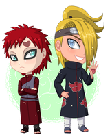 Gaara and Deidara by YukinaLi13