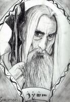 Charcoal Saruman by Such-A-Dreamer