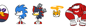 Sonic Cartoon Idea Character Designs by Soap9000