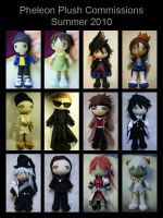 Plush Commissions Summer 2010 by pheleon
