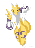 Renamon by upshdragoon