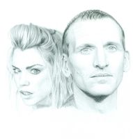 The Ninth Doctor and Rose by Keava-Rayne