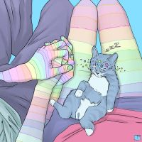 Holding Hands With Cat by SuperPhazed