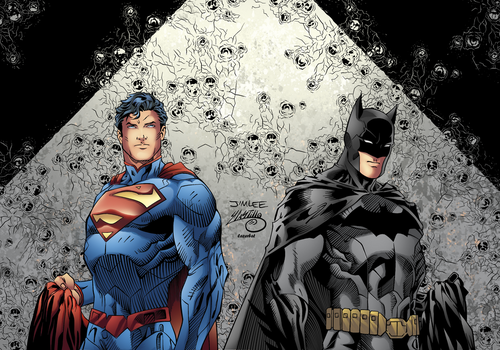 Batman and Superman New 52 Color by LazerBat