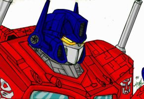 Optimus Prime Coloured by freaky06