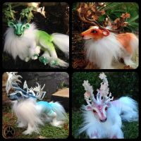 Four season caribou poseable art dolls/plushies by CreaturesofNat