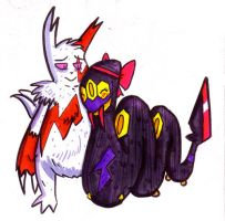 Zangoose and Seviper by Corny63
