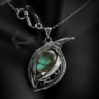 AZZAGTHAR DRACO - silver and labradorite by LUNARIEEN