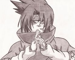 Sasuke-Curse Mark by Ramenfangirl