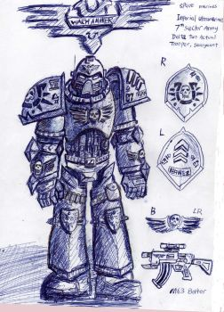 Space marine concept: Marine Prime by Noacuracy