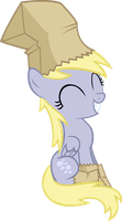 Filly Derpy Vector With Costume by AnEvilZebra