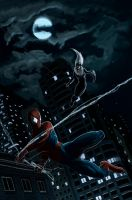 Spider-Man and Black Cat by nbashowtimeonnbc