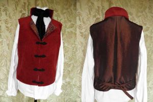 Steampunk inspired-Victorian waistcoat PCW13-16s by JanuaryGuest