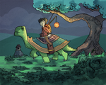 Turtle ride by Bored-dood