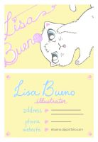 kitty business card by LisaBueno