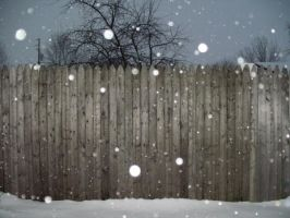 Snowing Fence by Rubyfire14-Stock