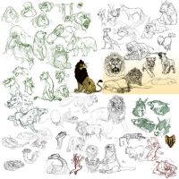 Sketchdump 28/04/13 by BearlyFeline