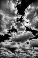 Black and White Clouds by braxtonds