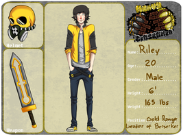 Berserker Leader ::Gold Ranger:: Riley by LucaiG