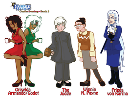 :PW Genderbender batch three: by CharlieIsAMystery