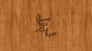 KFC Logo Wood Wallpaper by TomEFC98