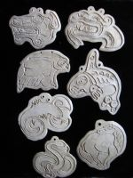 clay pendants by Myotiseyes