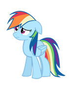 sad rainbow dash by Coltsteelstallion