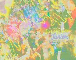 {Wallpaper} - Super Junior to Monny666~ by Fantajikyoui