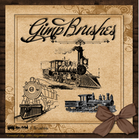 GIMP Brushes | Train Brushes by TheAngeldove