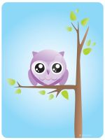 Owl and tree by caithness-shop