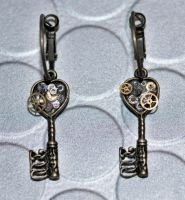 Steampunk Earrings by DemoraFairy