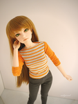 Orange stripes by cutejoint