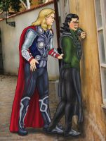 Commission: Thor and Loki by Petia-DiS