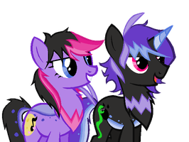 Nocturne Song and SideWinder by AnaXHedgecat