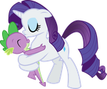 Rarity can't resist her little Spikey. by TheropodHunter