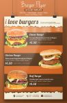 Burger Flyer Design by BloganKids