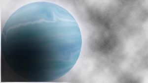 Blue Gas Giant by Solitare-Girl