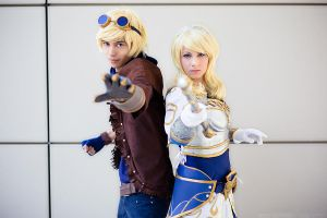 LoL-Ezreal and Lux by XwinterXsilenceX