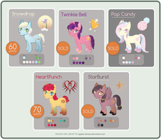 [Price Reduced][OPEN] Pony Adoptables by apples-ishness