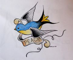 Peace Swallow by miss-aprilia