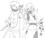 Ninjas Lineart Wip by MasterAssailant-A