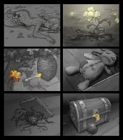 Zoom sketches for hidden object games (part 2/4) by Okha
