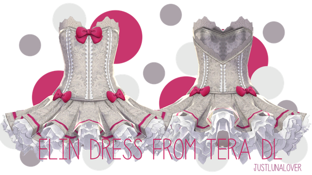 [MMD] Tera Elin Dress DL by luna-panda-love