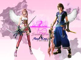 Wallpaper Serah and Noel by tifany1988